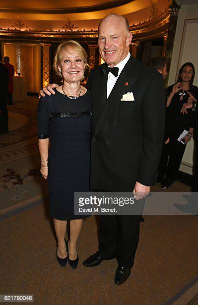 Rachel Hood and John Gosden attend The Cartier Racing Awards 2016 at The Dorchester on November 8 2016 in London England
