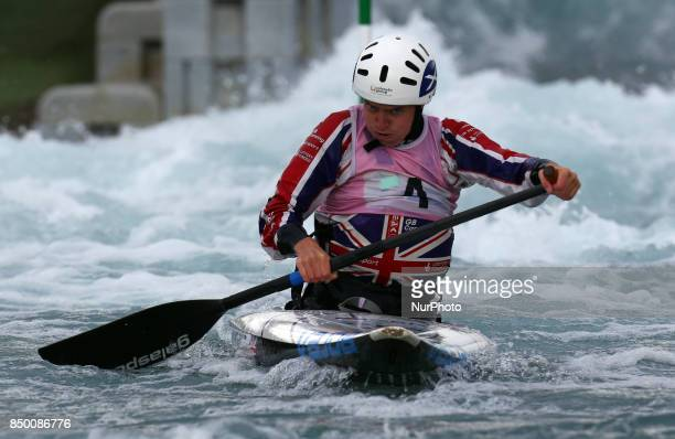 Rachel Houston of CR Cats U23 competes in Canoe Single Women during the British Canoeing 2017 British Open Slalom Championships at Lee Valley White...