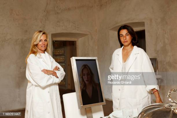 Rachel Hovnanian and Annalisa Bugliani attend the museum show opening for Rachel Lee Hovnanian's Open Secrets at Palazzo Mediceo Seravezza Italy on...