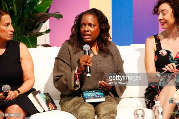 """Rachel Howzell Hall speaks on stage during """"ThrillHer"""" panel discussion during POPSUGAR Play/Ground at Pier 94 on June 23, 2019 in New York City."""