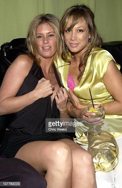 Rachel Hunter and guest during EMI 2004 GRAMMY Party at Los Angeles County Museum of Art in Los Angeles California United States