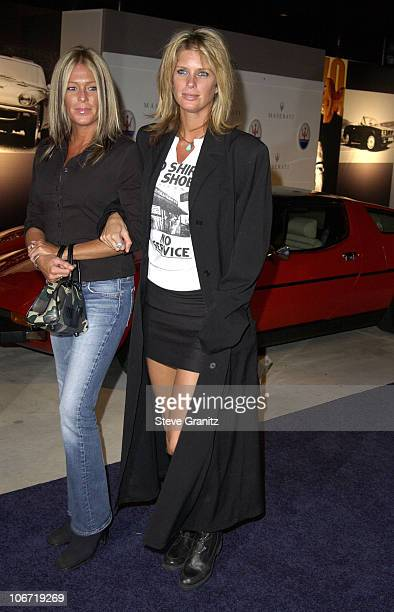 Rachel Hunter and guest during Maserati Kicks Off Golden Globe Weekend With A Special Performance By The Pussycat Dolls at Pacific Design Center in...