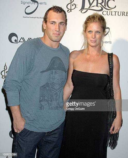 Rachel Hunter and Jarrett Stohl during Lyric Culture Hosts Launch Party Runway Show Arrivals at Avalon in Hollywood California United States