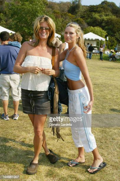 Rachel Hunter and Sara Foster during Frankie B Fashion Show Event at Lake Hollywood Park at Lake Hollywood Park in Los Angeles California United...