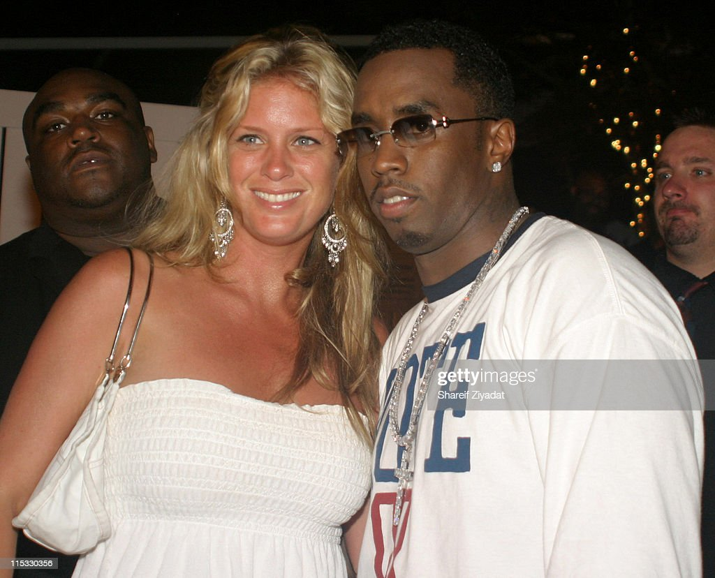 Rachel Hunter and Sean 'P. Diddy' Combs during PS2 Estate Day 3 - 6th Annual P. Diddy White Party at PS2 Estate in Bridgehampton, New York, United States.