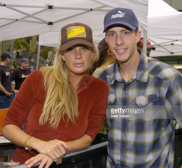 Rachel Hunter and Travis Pastrano during X Games X Official Kick Off at Hollywood and Highland in Hollywood California United States