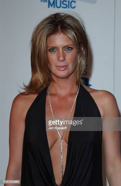 Rachel Hunter arrives at House of Blues for Blue Jam Sessions presented by Blue from American Express to help generate money and awareness for music...