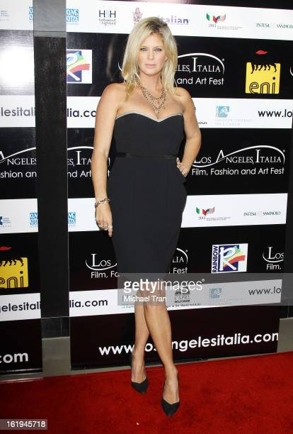 Rachel Hunter arrives at The 8th Annual Los Angeles Italia Film Fashion And Art Festival held at Chinese 6 Theatres on February 17 2013 in Hollywood...