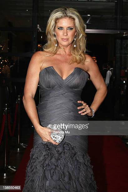 Rachel Hunter arrives for the 2012 Halberg Awards at Sky City Convention Centre on February 9 2012 in Auckland New Zealand