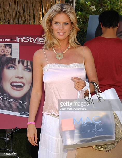 Rachel Hunter at MAC during Silver Spoon Hollywood Buffet Day 2 in Los Angeles California United States Photo by JeanPaul Aussenard/WireImage for...