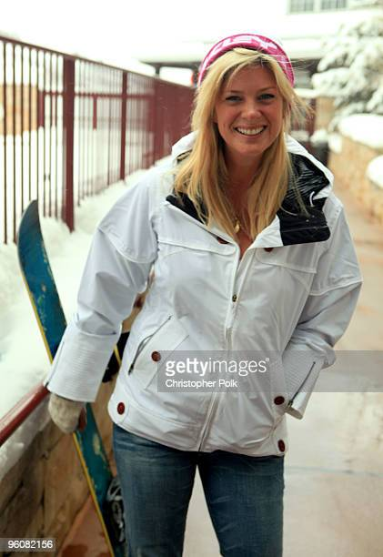 Rachel Hunter attends Oakley 'Learn To Ride' Snowboard fueled by Muscle Milk at Oakley Lodge on January 23 2010 in Park City Utah