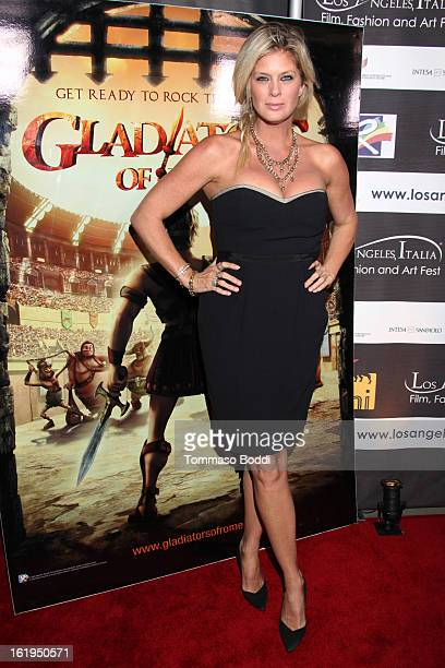 Rachel Hunter attends the 8th annual Los Angeles Italia Film Fashion and Art Festival opening night ceremony held at Mann Chinese 6 on February 17...