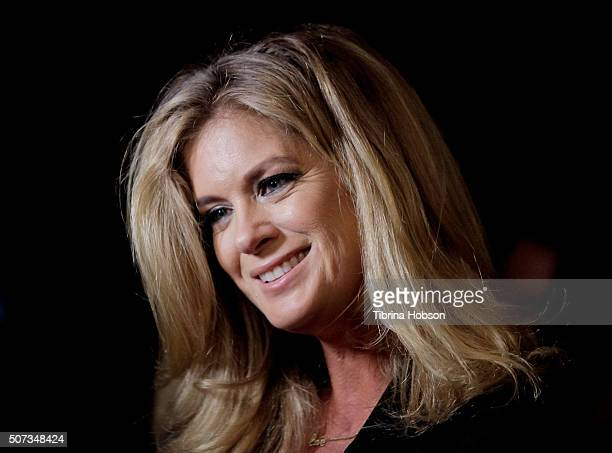 Rachel Hunter attends the 'Feminine Collective Raw And Unfiltered' Vol 1 launch party at Palihouse on January 28 2016 in West Hollywood California