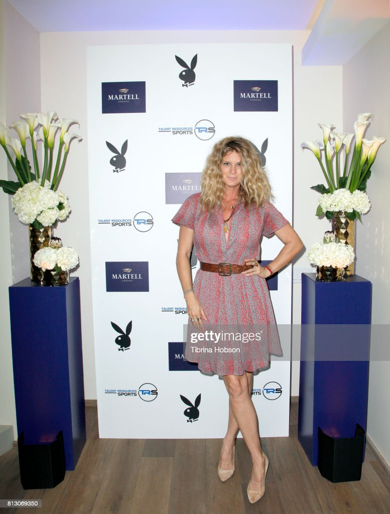 Rachel Hunter attends the Talent Resources Sports Party hosted by Martell Cognac at Playboy Headquarters on July 11, 2017 in Los Angeles, California.