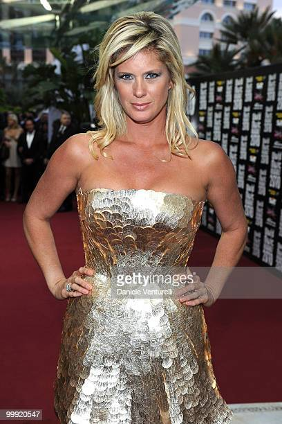 Rachel Hunter attends the World Music Awards 2010 at the Sporting Club on May 18 2010 in Monte Carlo Monaco