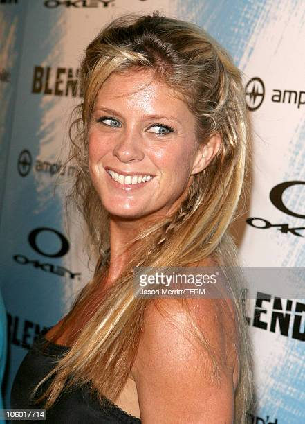Rachel Hunter during 2006 Blender/Oakley X Games Kick Off Party Red Carpet at Element in Hollywood California United States