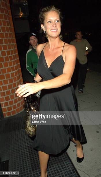 Rachel Hunter during Celebrity Sightings at Mr Chow June 12 2007 at Mr Chow in Beverly Hills California United States