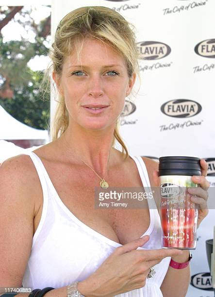 Rachel Hunter during FLAVIA at 2006 Silver Spoon Emmy Suite Day 2 at Wattles Mansion in Los Angeles California United States