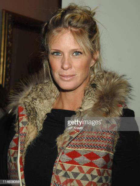 Rachel Hunter during HBO 2007 PreGolden Globes Party at Chateau Marmont in Los Angeles California United States