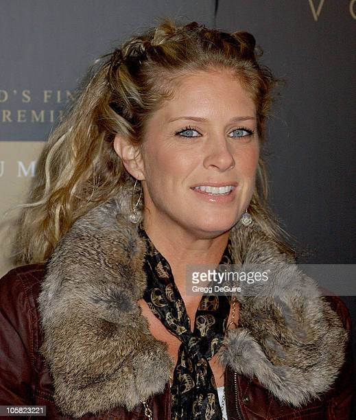 Rachel Hunter during Launch Party for Trump Vodka Arrivals at Les Deux in Hollywood California United States