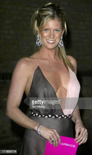 Rachel Hunter during 'Make Me A Supermodel' Finale Arrivals at Whitbread Brewery in London Great Britain