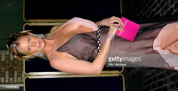 Rachel Hunter during Make Me A Supermodel Finale Arrivals in London Great Britain