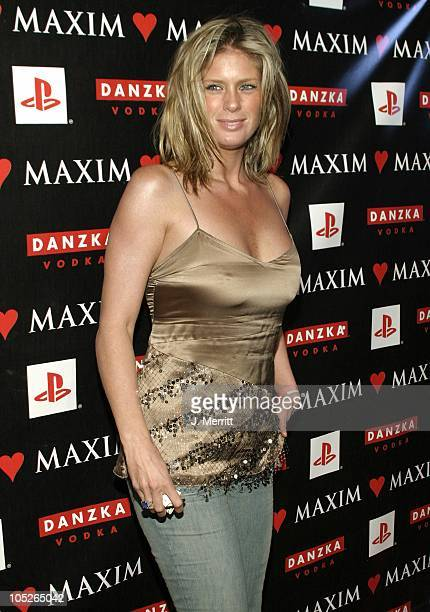 Rachel Hunter during Maxim Magazine Valentines Day Love Party Arrivals at Papaz in Hollywood California United States