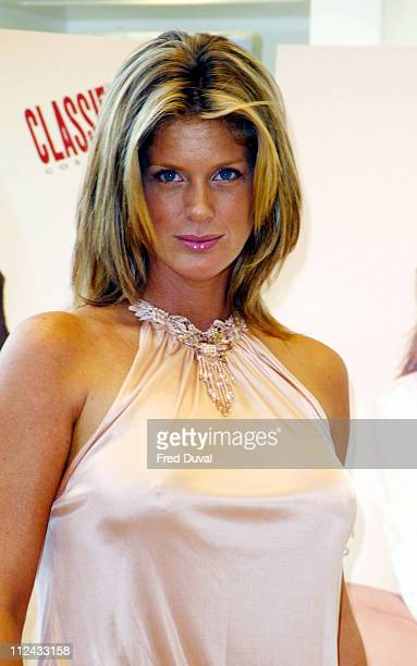 Rachel Hunter during Photocall For Space NK Featuring Rachel Hunter at Space NK Store in London Great Britain