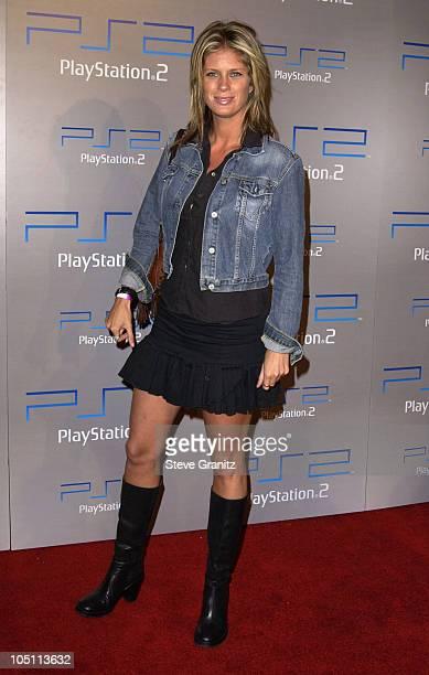 Rachel Hunter during Playstation 2 'Playa Del Playstation' Party at Viceroy Hotel in Santa Monica California United States