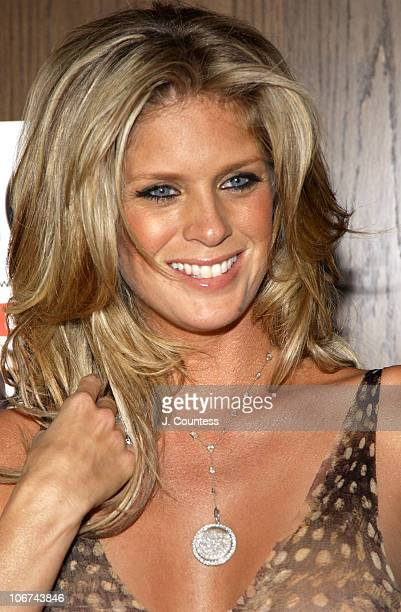 Rachel Hunter during Rachel Hunter Celebrates Her Appearance in the April Issue of Playboy for their Annual Sex and Music Issue at Marquee in New...