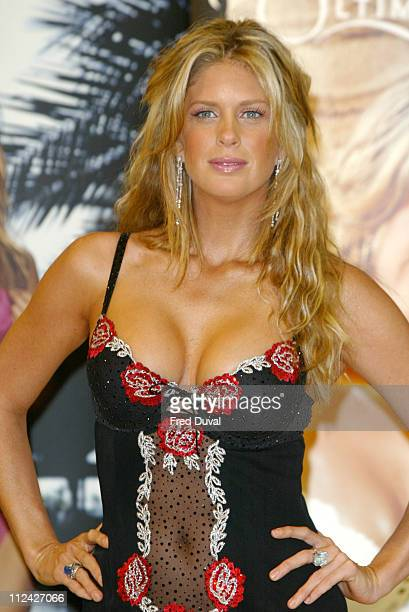 Rachel Hunter during Rachel Hunter Launches Ultimo's 2004 Spring / Summer Collection at Debenhams Store in London Great Britain