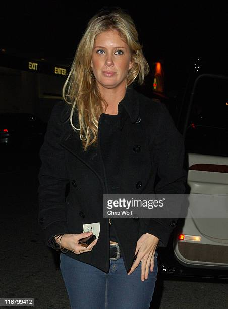 Rachel Hunter during Rachel Hunter Sighting at Mr Chow's February 27 2007 at Mr Chow's Restaurant in Beverly Hills California United States