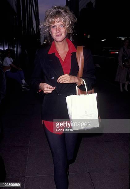 Rachel Hunter during Rachel Hunter Sighting on Madison Avenue in New York City September 23 1991 at Madison Avenue New York City in New York City New...