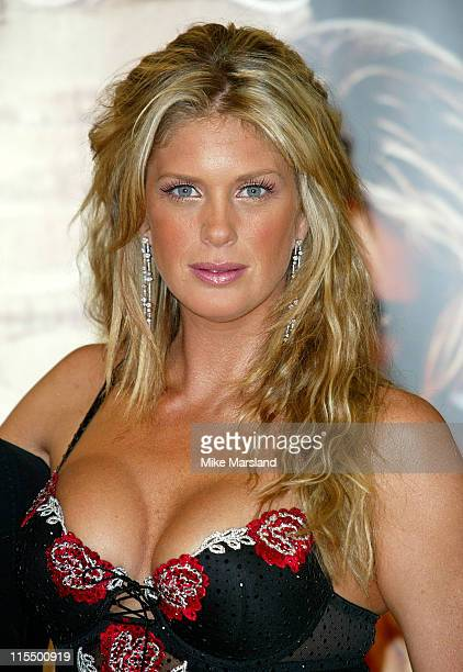 Rachel Hunter during Rachel Hunter Unveils Ultimo's Spring/Summer 2004 Collection at Debenhams Oxford St in London Great Britain