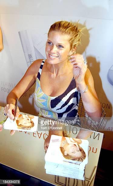 Rachel Hunter during Supermodel Rachel Hunter Launches ERA FACE Cosmetics at Brown Thomas Store in Dublin Great Britain
