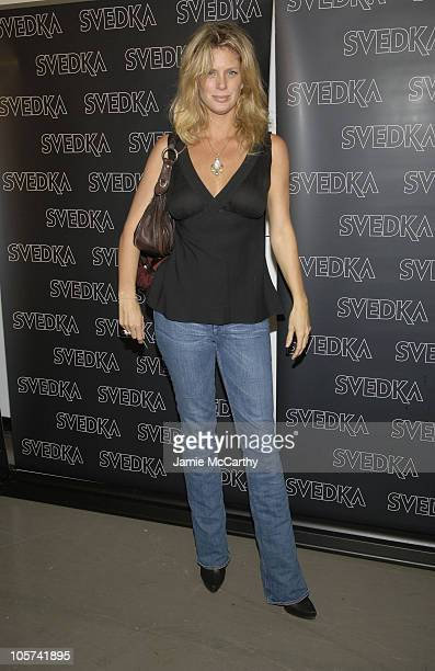 Rachel Hunter during Svedka Celebrates the Launch of Their New Ad Campaign at Peter White Studio in New York City New York United States