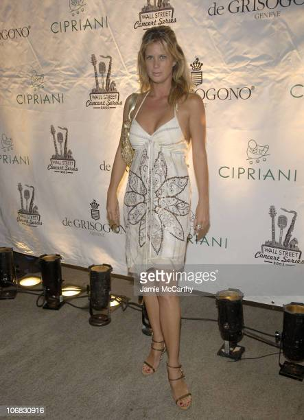 Rachel Hunter during The Cipriani Wall Street Concert Series Presents Marc Anthony Hosted By De Grisogono at The Cipriani Wall Street in New York...
