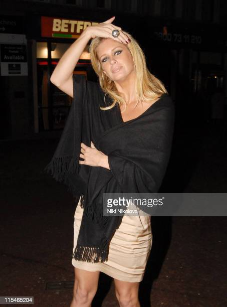Rachel Hunter during ''The Prestige'' London Premiere After Party at Embankment in London Great Britain