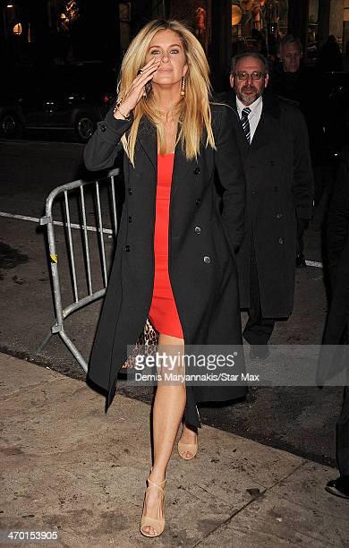 Rachel Hunter is seen on February 17 2014 in New York City
