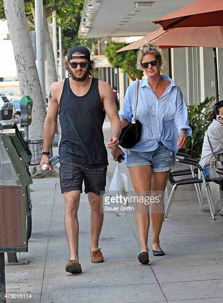 Rachel Hunter is seen on May 11 2015 in Los Angeles California
