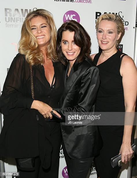 Rachel Hunter Jacqueline Lundquist and Julie Anderson attend the 'Feminine Collective Raw And Unfiltered' Vol 1 launch party at Palihouse on January...