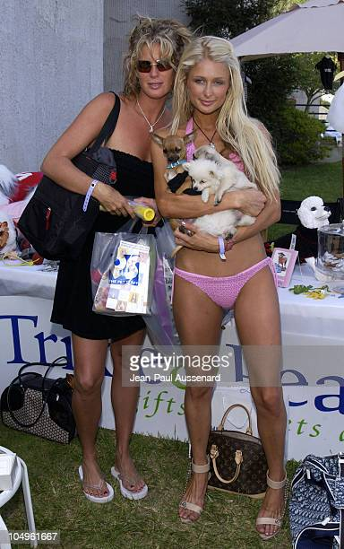 Rachel Hunter Paris Hilton during Cabana PreMTV Movie Awards Beauty Buffet Day Two at Private Residence in Hollywood California United States