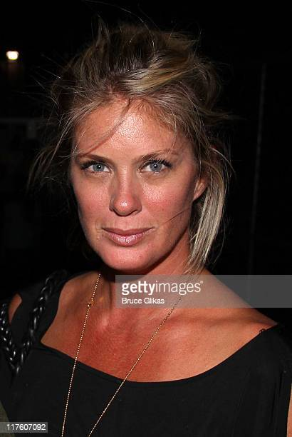 Rachel Hunter poses backstage at Streep Tease An Evening Of Meryl Streep Monologues at Joe's Pub on June 27 2011 in New York City