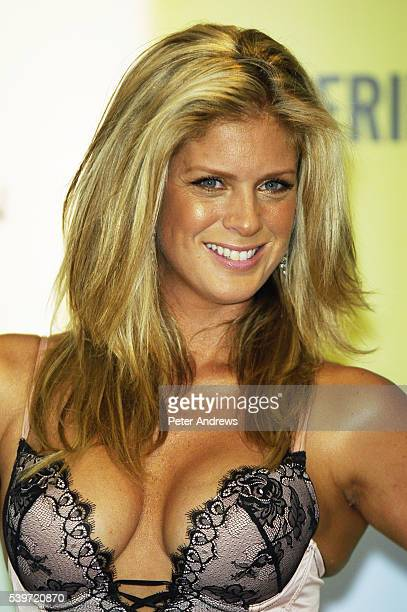 Rachel Hunter the face and body of Ultimo launches the Autumn/Winter 2004 Black Label Lingerie Collection at Selfridges, Oxford Street.