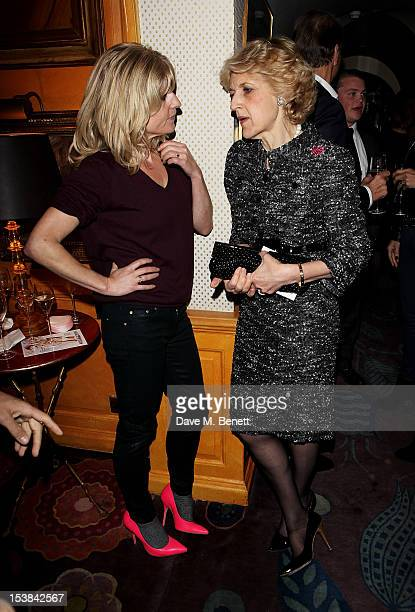 Rachel Johnson and Fiona Shackleton attend as Nicholas Coleridge launches his new book 'The Adventuress' at Annabels on October 9 2012 in London...