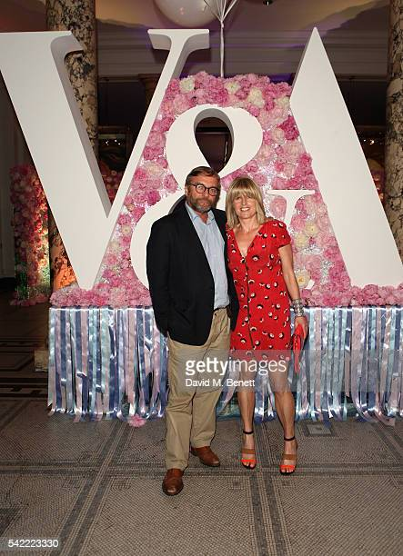 Rachel Johnson and Ivo Dawnay attend the 2016 VA Summer Party In Partnership with Harrods at The VA on June 22 2016 in London England
