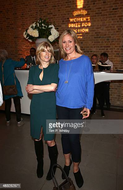 Rachel Johnson and Sophie Raworth attend the Baileys Women's Prize for Fiction Short List Announcement at The Magazine at The Serpentine Gallery on...