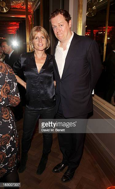 Rachel Johnson and Tom Parker Bowles attend the launch of Geordie Greig's new book Breakfast With Lucian on October 3 2013 in London England