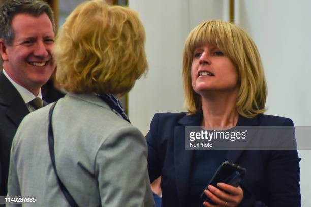 Rachel Johnson attends a People's Vote Remain rally for the European elections by newly formed political party Change UK in London on April 30 2019...