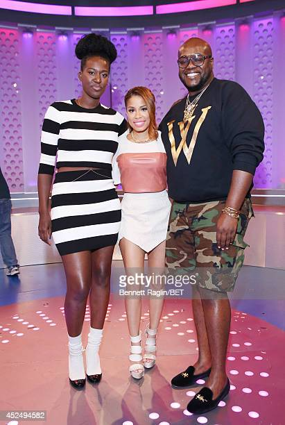 Rachel Johnson Keshia Chante and Wouri Vice attend 106 Park at BET studio on July 21 2014 in New York City